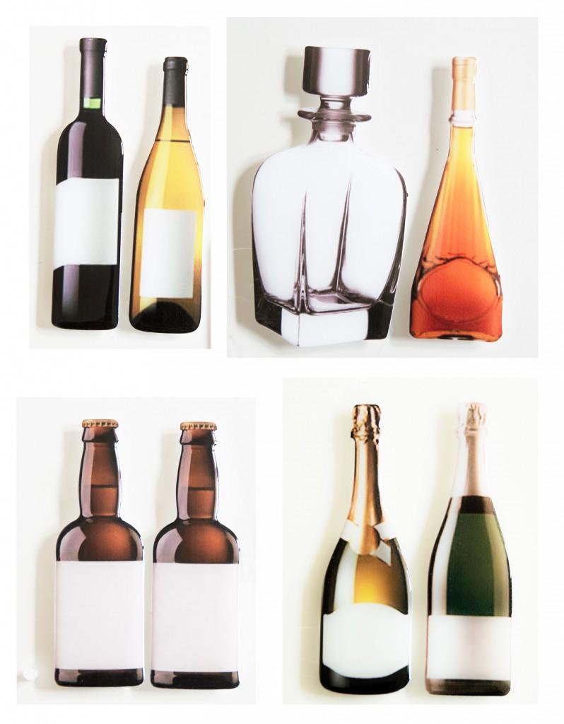 pegatinas resina forma botella