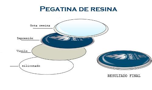 pegatina de resina
